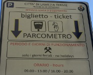 Parcometro cartello